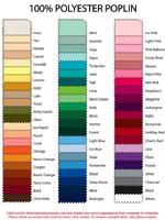 Table Cover Color Chart