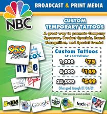 Custom Temporary Tatoos