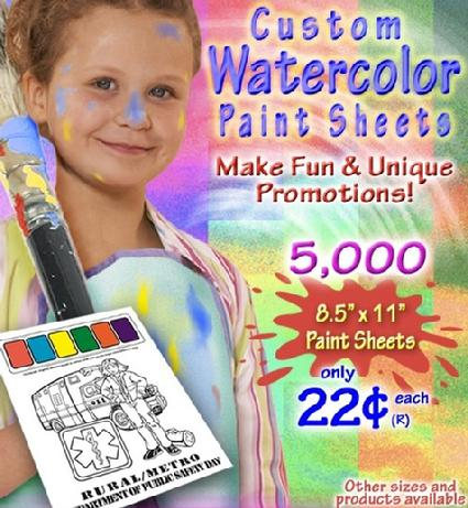 Custom Watercolor Paint Sheet