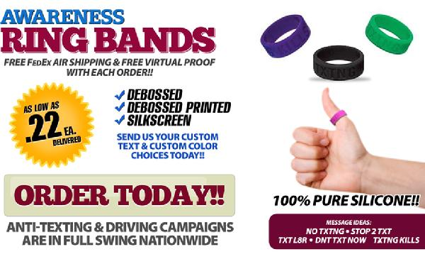 Anti-Texting and Driving Campaign Thumb Bands